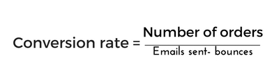 Conversion rate formula